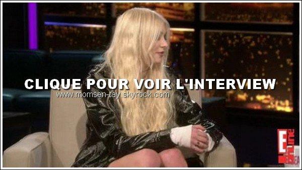 .Après avoir joué au Hard Rock Cafe, Taylor a fait un photoshoot pour Idolator+ Taylor était au talk show Chelsea Lately le 26 Avril