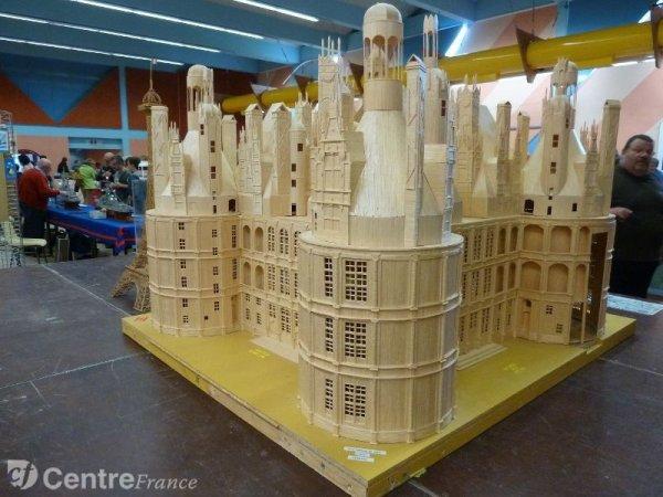 Le chateau de Chambord en allumettes