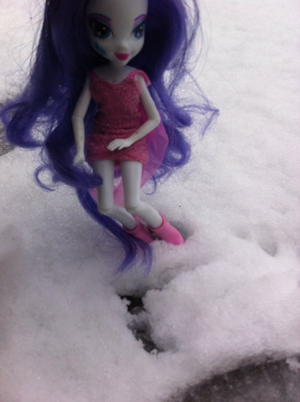 Sunset et Rarity:In The Snow!
