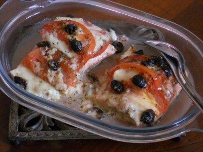 Papillotes de saumon ail basilic tomate mozza