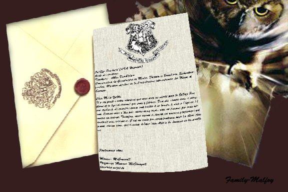 Lettre de Poudlard