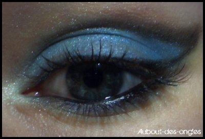 Cut crease bleu & noir