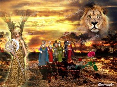 enthousiaste, généreux, et entouré de sa cour... Le Lion