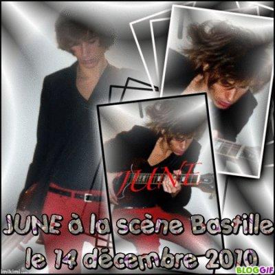 JUNE à la scène bastille le 14 décembre 2010