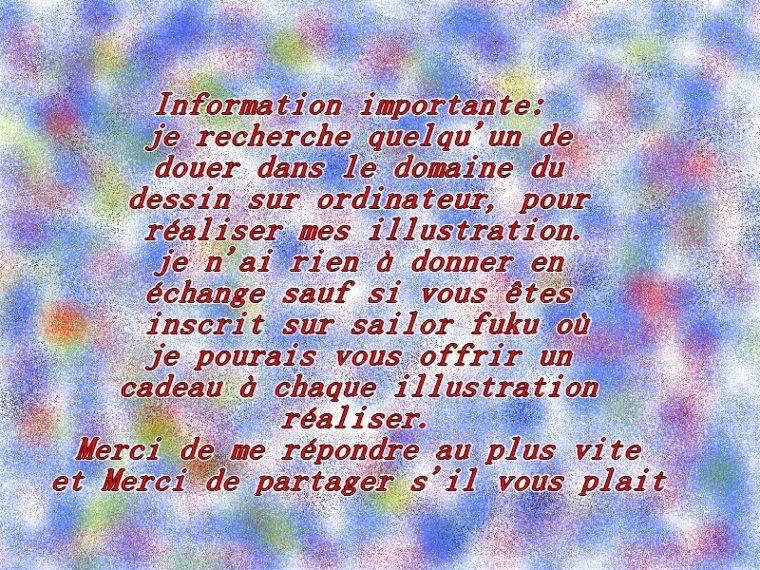 Information pour mon autre blog