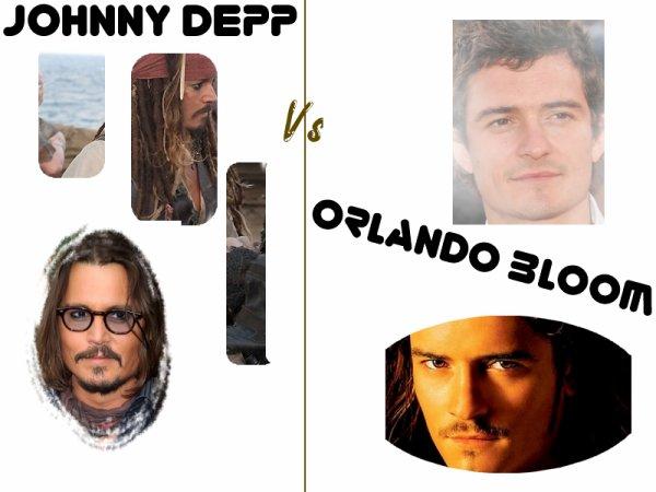 Pirates des Caraïbes Johnny Depp Vs Orlando Bloom