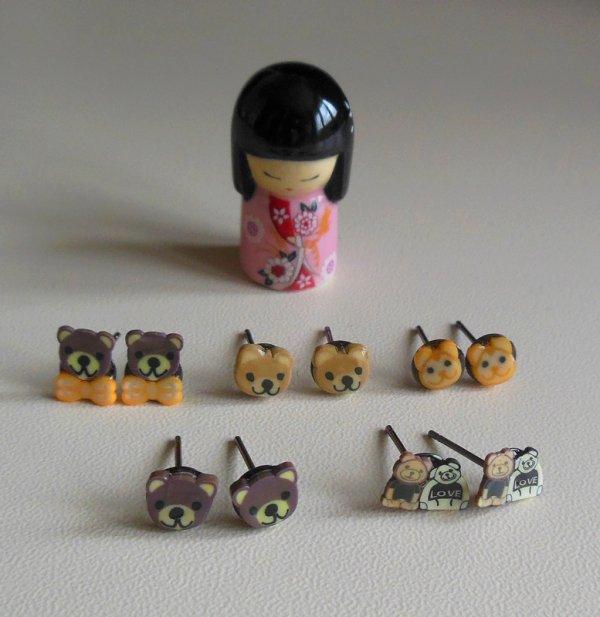 Boucles d'oreilles thème : animaux
