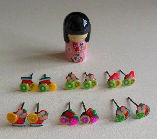 Boucles d'oreilles thème : Fruits