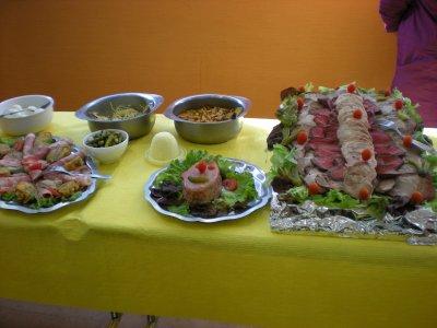 Petit buffet pour repas anniversaire