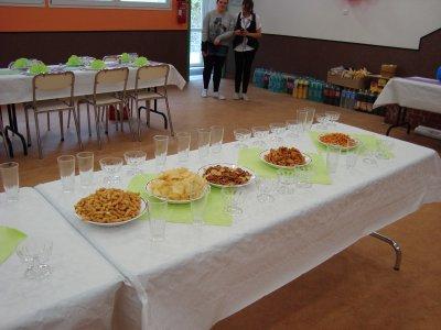 Présentation de table pour anniversaire de mariage