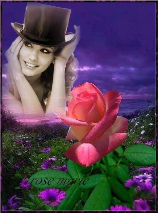 le sourire est la lumière du c½ur je vous souhaite une agréable journée pleine de douceur , Bisous rose