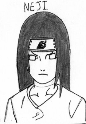 Mon Dessin De Neji Naruto Shippuden Le Blog