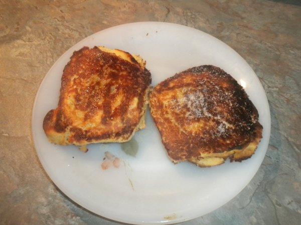 173ème recette : Croques sucrés pommes chocolat