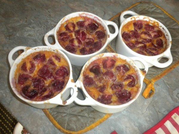 182ème recette : Clafoutis cerises/ chocolat blanc