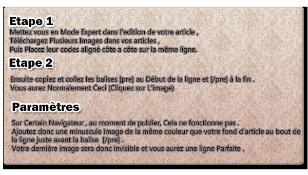 ASTUCE : Faire Défiler des Images à L'horizontale
