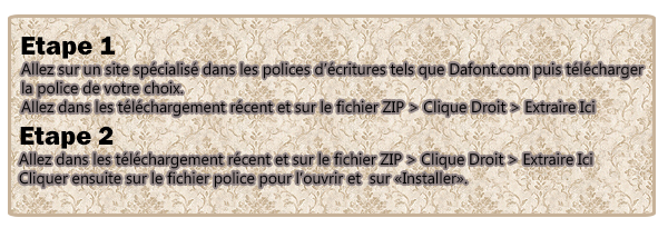 ASTUCES :  Installation D'une Police