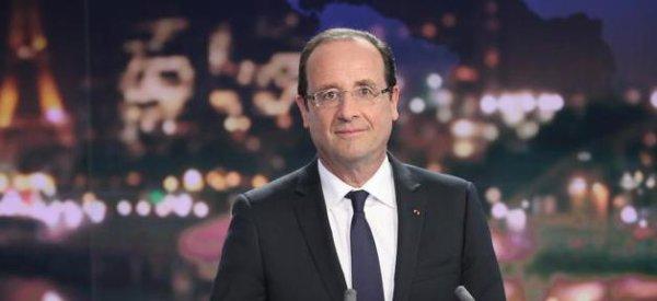 François Hollande au JT de France 2 dans la deuxième quinzaine de mars