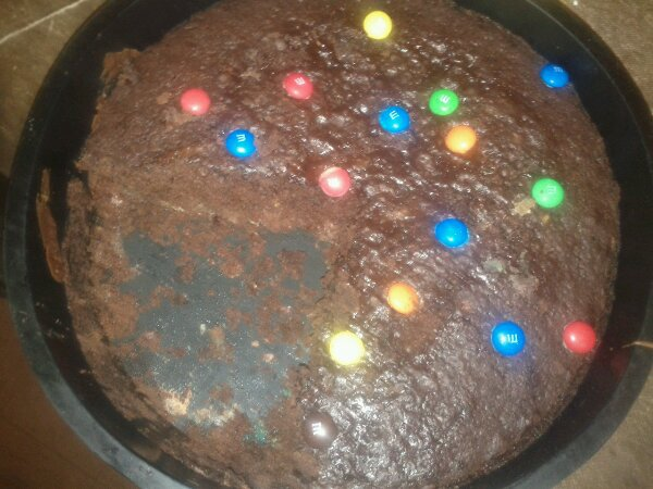 gâteau choco-smarties