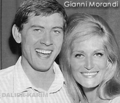 Dalida et le chanteur italien Gianni Morandi