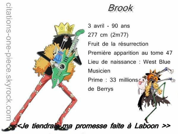 Article 68 - Brook << Le  Fredonneur >>