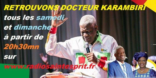 Docteur Karambiri tous les samedis et dimanches 20h30 sur www.radiosaintesprit.fr