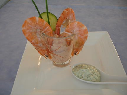 Cocktail de Crevettes en Verrine