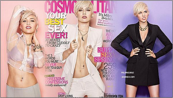 Voila les photos du magasine Cosmopolitan, Miley est magnifique j'adore!!! :D (c'est mon dernier article... je vient plus ici je pense que vous l'avez compris j'ai plus le temps le blog va beaucoup me manquer mais c'est la deuxieme fois que je fait une pause déja donc voila bisous à tous <3<3<3(je suis sur instagram et twitterTwitter: emilien_rb et insta: emilienrb)