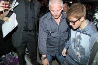Justin Bieber se rendant à la fête de D.G