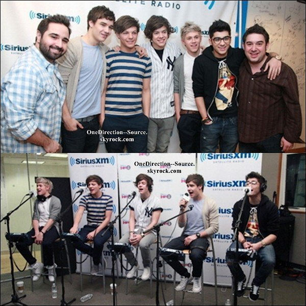 • 16 Mars : - Le groupe à la radio  Sirius XM.