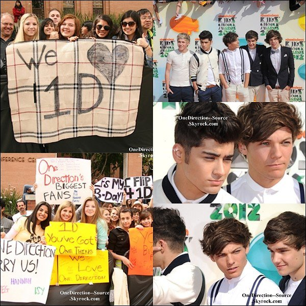 "• 31 Mars : - Le groupe arrivée au "" Kids Choice Awards ""."