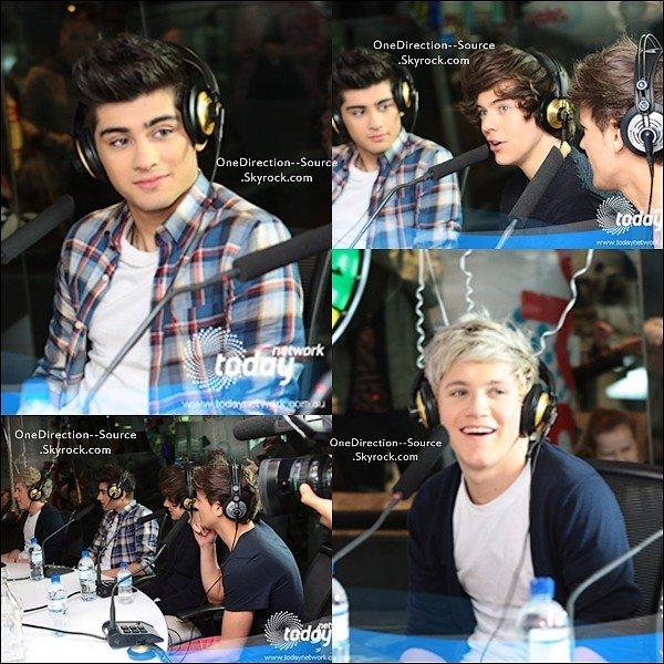 • 11 Avril :  Les garçons à la radio Kyle and Jackie.