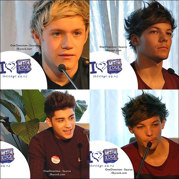 • Aujourd'hui , 20 Avril :  - Interview  On THE EDGE FM. - Les garçons en dehors de leur hôtel.(Nouvelle Zélande)