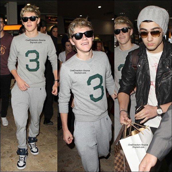 • 24 Avril :  -  Suite des photos de l'arrivée des garçons à l'aéroport de Heathrow.