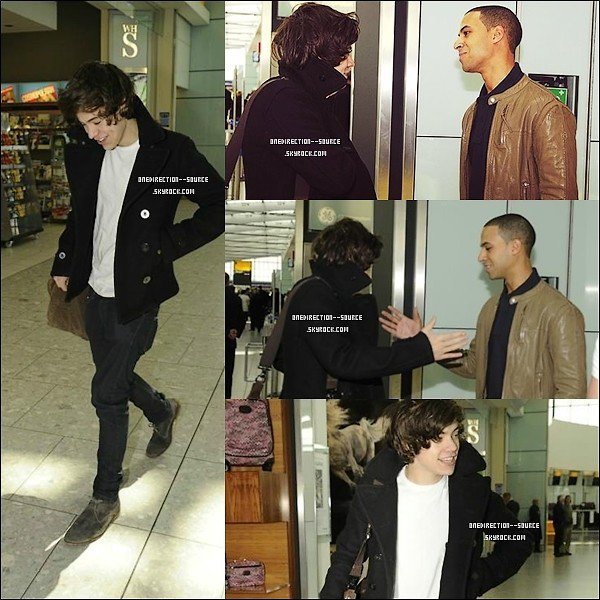 •  01 Mai. :Harry à l'aéroport  de Heathrow.
