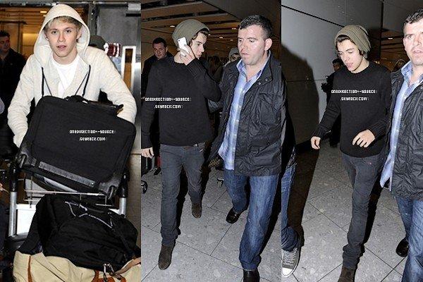 •  15  Mai ;   Les garçons arrivée à l'aéroport de HEATHROW.  •  14  Mai ;  Les garçons en boite de nuit.