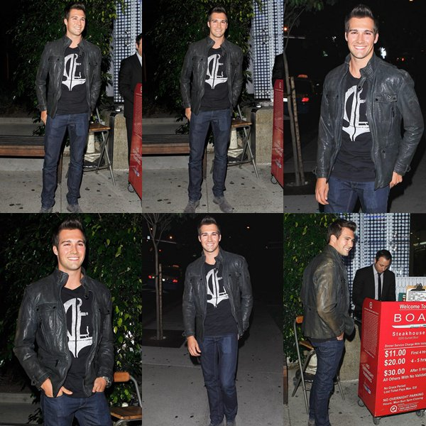 James dines at BOA Steakhouse 9/29/13