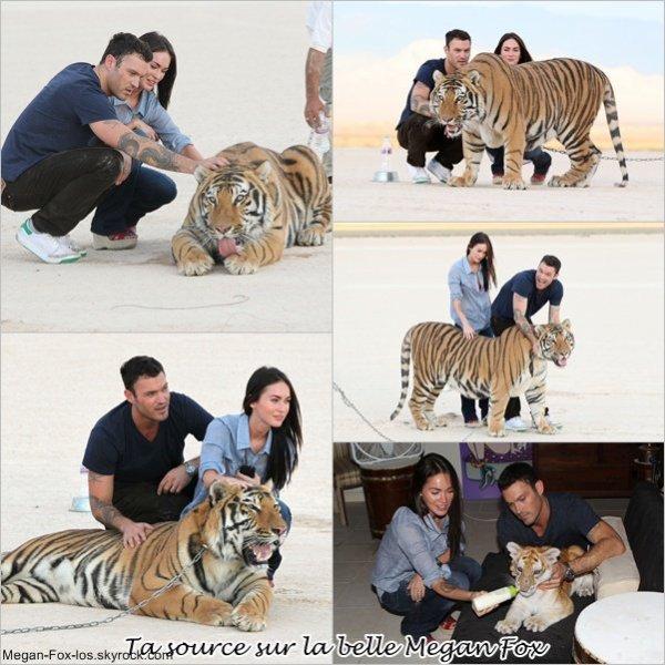 Megan et Brian avec les Tigre