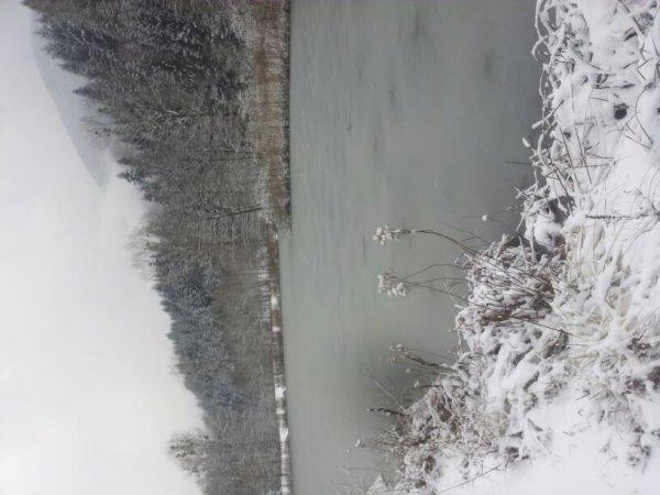 Lac de la pisserote gelé