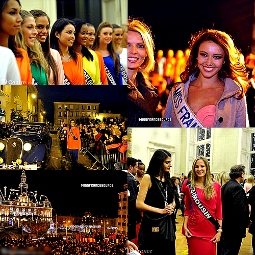 25/11/12 - ♦Premier bain de foules pour les Miss à Limoges. Des centaines de personnes ont applaudi la parade des Miss à bord de vieilles voitures hier après-midi.