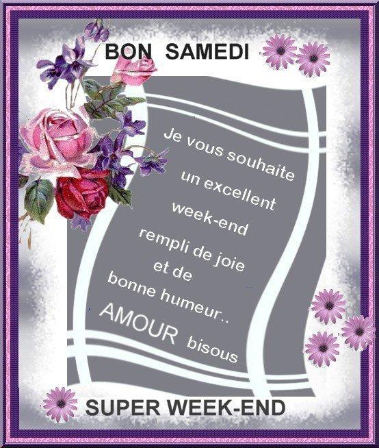 BON SAMEDI ET WEEK-END MERCI