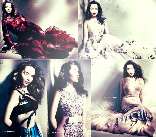 ••••• Emilia en couverture du magasine «Vogue» édition britannique pour le mois de Mai prochain :