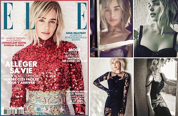 • Cover and Shoot ▬ Elle France : Notre magnifique Emilia est en couverture du magasine français Elle pour le mois de novembre 2018. Le magasine sortira le vendredi 23 novembre prochain. Habillée et maquillée uniquement en Dolce & Gabbana, la belle rayonne de la tête aux pieds. Je suis fan de ces photos (notamment de la couverture) et de sa coiffure, cela lui va très bien je trouve ! Un beau top en somme, qu'en pensez-vous ?