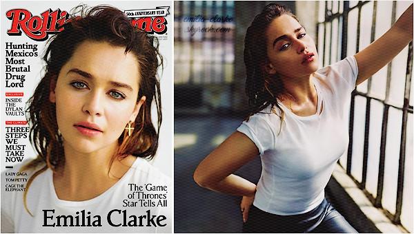 ____________________________________________________ COVER & SHOOT ◎ Rolling Stone Il aura fallu attendre la moitié de l'année 2017 pour ENFIN avoir droit au premier shoot d'Emilia ! (et encore c'est un bien grand mot, j'espère que l'on aura plus de photos). La belle fait la couverture du magasine Rolling Stone édition américaine du mois de Juillet 2017. Que deux photos disponible (pour le moment) mais quelles photos ! J'aime beaucoup, surtout la seconde, une vraie beauté comme à son habitude ♥ Qu'en pensez-vous ?  Petites infos à retenir lors de l'interview : Emi a révélé avoir perdu son papa en juillet dernier des suites d'un cancer. Un choc d'autant plus traumatisant puisque elle était bloquée sur le tournage du film Above Suspicion et n'a pas pu être présente lors de ses derniers jours … Plus évident (quoiqu'on sait jamais avec la série), elle sera bien présente lors de la saison 08 de Game of Thrones si l'on en croit son interview ! Concernant son rôle dans Star Wars, elle n'a pas pu en dévoiler beaucoup mais se sera une stormtrooper géniale et bad-ass avec une arme ! Après le final de la série, elle aimerait créer une société de production entièrement composée de femmes ! Rappelons qu'Emilia est une grande féministe et avait écrit un article spécial pour le Huffington Post lors de la journée de la femme en mars dernier.