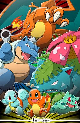 Les cinq générations Pokémon.