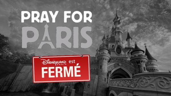Fermeture de Disneyland Paris suite aux attentats de Paris - jusqu'au 17 novembre 2015 inclus