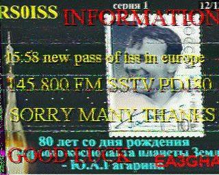 23 Fevrier 2015 - Contacte avec la Station Spaciale ISS