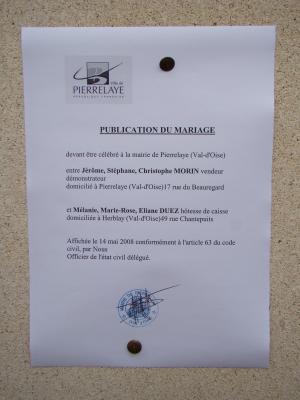 La publication des bans mariage de m lanie et j r me - Publication banc mariage ...