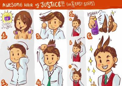 La coiffure d'Apollo Justice