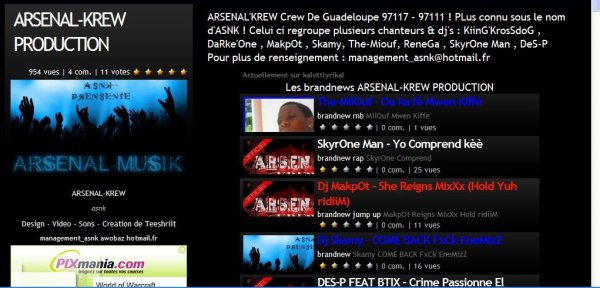 ARSENAL'KREW SUR KALLOT && YOUTUBE && TWiTTER