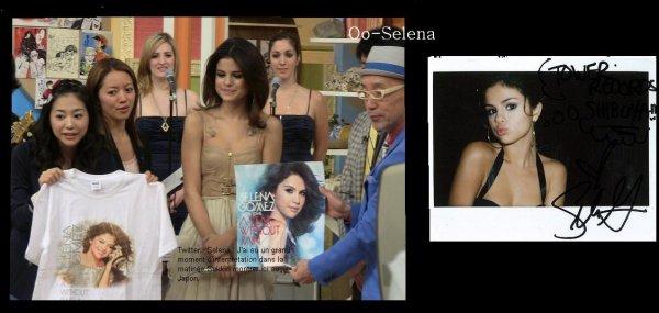 Mercr. 23 Février : Selena et son groupe chantant « Round&Round » dans l'émission japonaise « Sukkiri >> et a côté une foto après le concer de selena